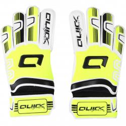 Detské futbalové brankárske rukavice QUICK SPORT Brankárske rukavice detské neon žltá