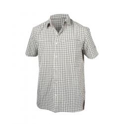 Pánska turistická košeľa s krátkym rukáv NORTHFINDER-WOLKER-blackwhite