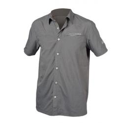 Pánska turistická košeľa s krátkym rukáv NORTHFINDER-WOLKER-grey
