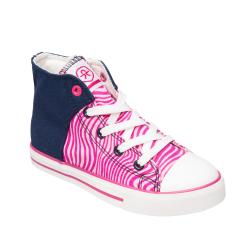 Dievčenská rekreačná obuv COLOR KIDS-Vaage canvas - Candy