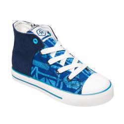 Chlapčenská rekreačná obuv COLOR KIDS-Vaage canvas - Blue