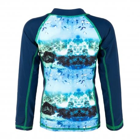 Detské tričko na kúpanie COLOR KIDS-Thera T-shirt LS AOP