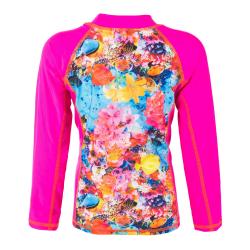 Detské tričko na kúpanie COLOR KIDS-Thera T-shirt LS AOP-Pink