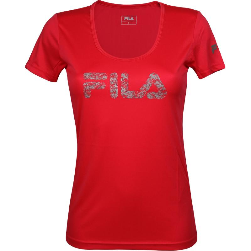 d4ebb76b6 Dámske tréningové tričko s krátkym rukáv FILA-Magenta - Dámske funkčné  tričko značky Fila s