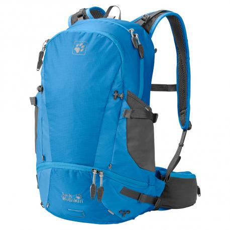 Turistický ruksak JACK WOLFSKIN Moab Jam 30 ocean blue - Veľký dvojkomorový ruksak značky Jack Wolfskin pre aktívne vonkajšie použitie.