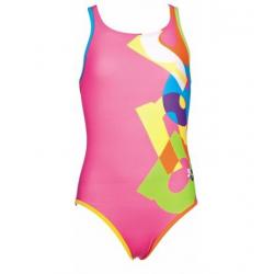 Dievčenské plavecké jednodielne plavky ARENA-G Patch Jr. one piece L růžová-multicolor