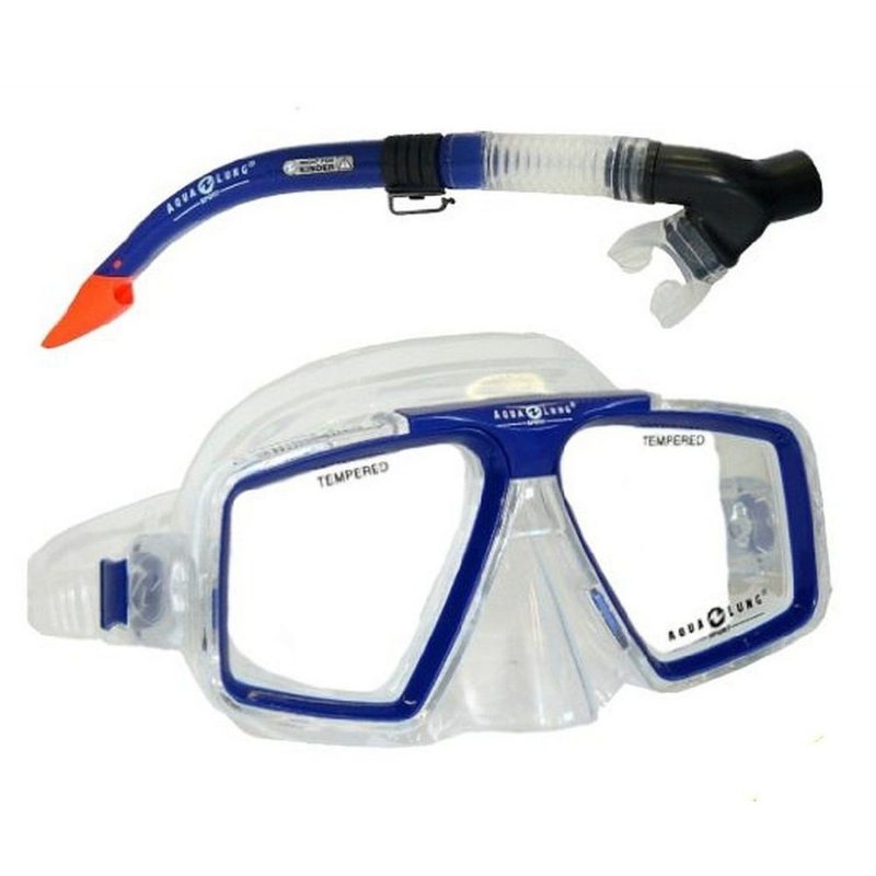 AQUALUNG-Set Cozumel Pro/Diego dry - Set na šnorchlovanie značky Aqualung, ktorýje ideálna pre potápačov všetkých úrovní.