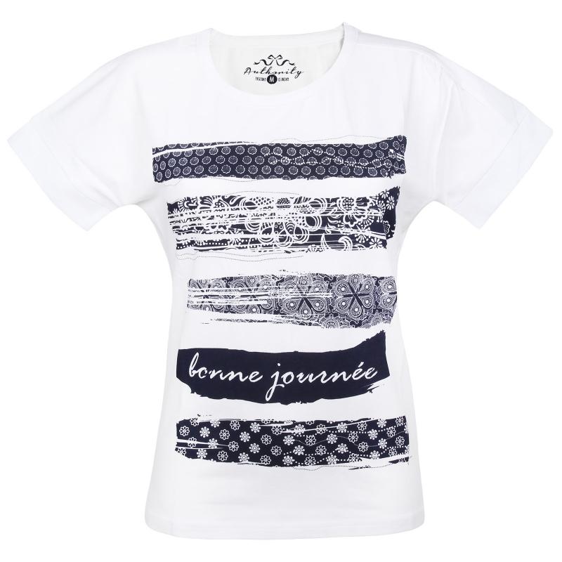 98b2e7cf1e1e Dámske tričko s krátkym rukávom AUTHORITY-RAUTYNA white - Dámske tričko  značky Authority s potlačou