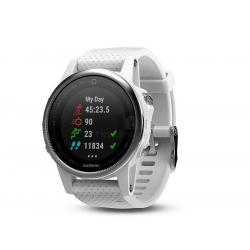 Športové hodinky GARMIN FÉNIX 5S Silver, White band