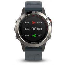 Športové hodinky GARMIN FÉNIX 5 Silver, Granite band