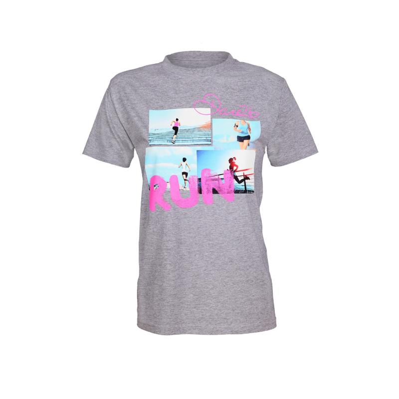 e67b057f7162 Dámske turistické tričko s krátkym rukáv DARE2B Run Lady T grey - Dámske  tričko značky Dare2b