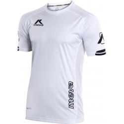 Pánsky futbalový dres s krátkym rukávom MEVA Shirt LONDON-White