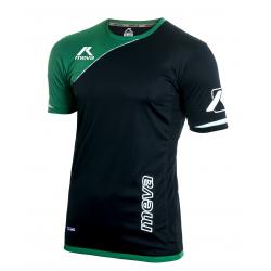 Pánsky futbalový dres s krátkym rukávom MEVA Shirt MALAGA-Black