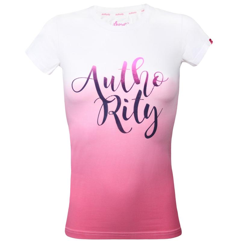 d4ed0e04e839 Dámske tričko s krátkym rukávom AUTHORITY-ARMEA pink - Dámske tričko značky  Authority s potlačou
