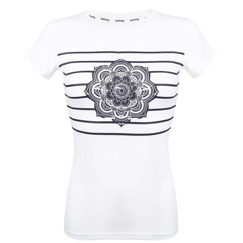 803a186bb119 Dámske tričko s krátkym rukávom AUTHORITY-ARMEA white - Dámske tričko  značky Authority v pruhovanom