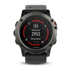 Športové hodinky GARMIN FÉNIX 5X Sapphire, Grey, Black band
