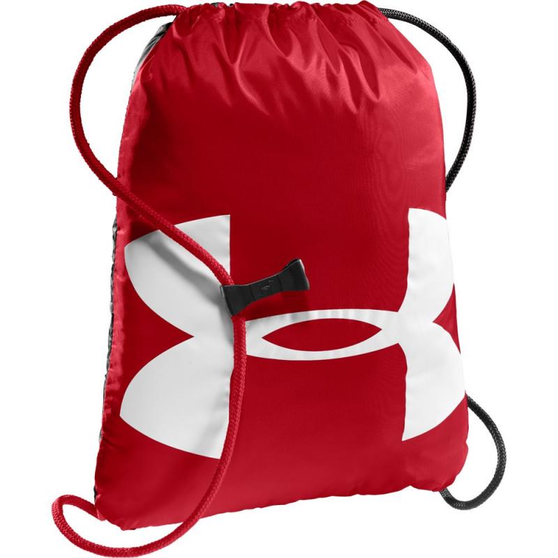 Vrecko na prezúvky UNDER ARMOUR-UA Ozsee Sackpack red - Praktické vrecko na prezuvky alebo športové vybavenie značky Under Armour.