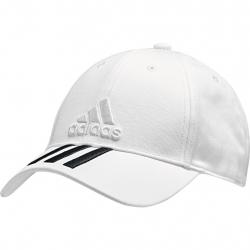 Šiltovka ADIDAS-6P 3S COTTON CAP WHITE