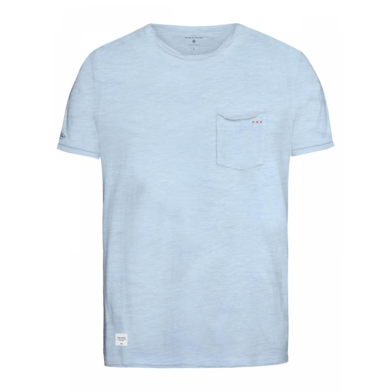 8b9895bae6fc Pánske tričko s krátkym rukávom VOLCANO-T-IGER-Blue light - Pánske tričko