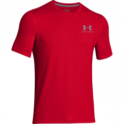 UNDER ARMOUR-CC Left Chest Lockup-Red