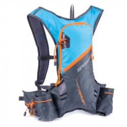 Cyklistický ruksak SPOKEY SPRINTER-cyklistický a bežecký batoh 5l šedo-modrý