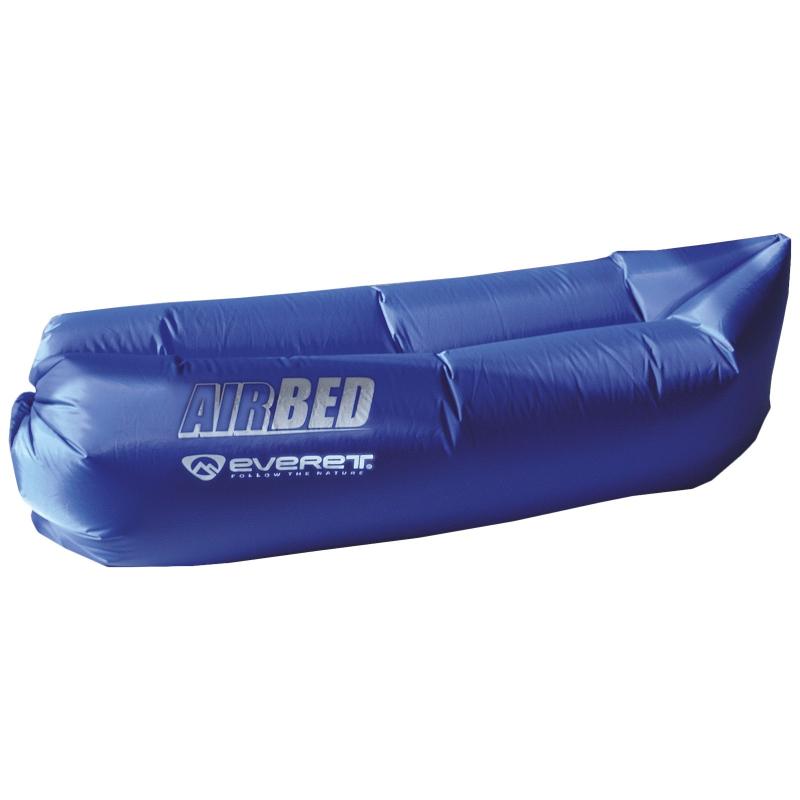Nafukovacie lehátko EVERETT-AIRBED - Vzdušný vak značky Everett dostatočne veľký a pohodlný na leňošenie, ktorý si môžete vďaka malému baleniu vziať kamkoľvek budete chcieť.