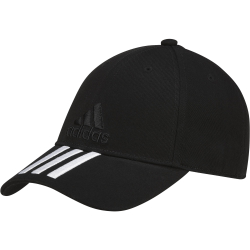 Šiltovka ADIDAS-6P 3S CAP COTTON BLACK
