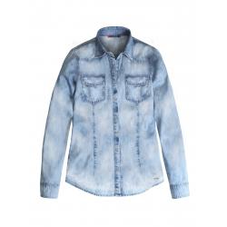 Dámska košeľa s dlhým rukávom VOLCANO-K-STARLET-Blue