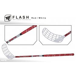 Juniorská florbalová hokejka MPS FLASH red/white JR L