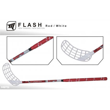 Juniorská florbalová hokejka MPS-FLASH red/white JR L