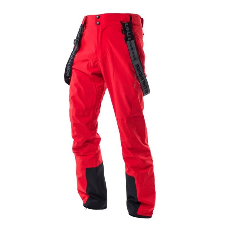 869f2b8e38e8 Pánske lyžiarske nohavice NORTHFINDER-KACPER-Red - Pánske 2-vrstvové lyžiarske  nohavice sú