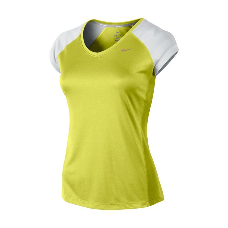 7b623bd98167 Dámske bežecké tričko s krátkym rukávom NIKE-MILER SS V-NECK TOP -