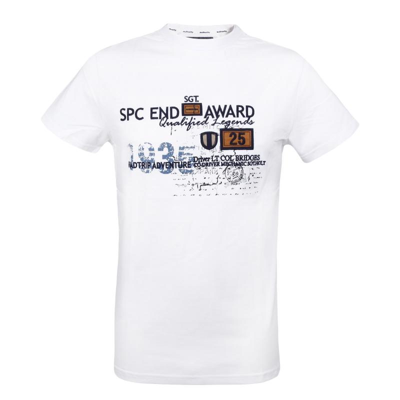 e6a897cde21c Pánske tričko s krátkym rukávom AUTHORITY-SAILON white