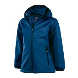Detská turistická softshellová bunda COLOR KIDS-Ralado Softshell-Blue dark