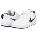 Detská rekreačná obuv NIKE-Pico 4 PSV white/midnight navy - Juniorská obuv značky Nike.