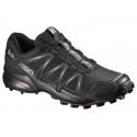 Pánska trailová obuv SALOMON-SPEEDCROSS 4 BK/BK/BLACK - Pánska trailová obuv značky Salomon s výrazným vzorom podošvypre rýchle zdolávanie technicky náročného terénu s mäkkým povrchom.