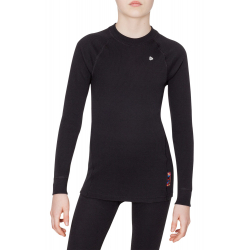 Juniorské termo tričko s dlhým rukávom THERMOWAVE-JUNIOR ACTIVE-Junior-L-sleeve-Black