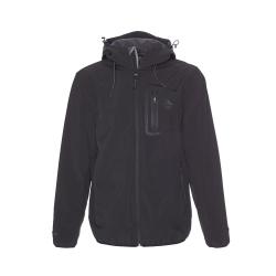 Pánska turistická softshellová bunda BERG OUTDOOR-YUKON-MEN-Black