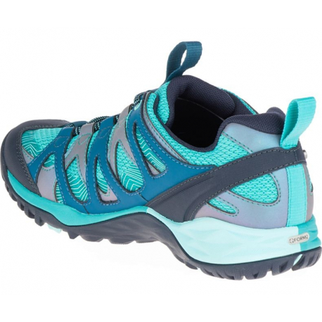 Turistická obuv nízka MERRELL-SIREN HEX Q2 WTPF baltic - Dámska turistická obuv značky Merrell v atletickom dizajne.