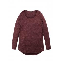 Dámske tričko s dlhým rukávom VOLCANO-L-CLOVER-Red dark