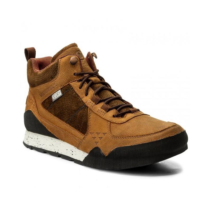 Pánska vychádzková obuv MERRELL-BURNT ROCK MID WTPF merrell oak 316b5c064a7