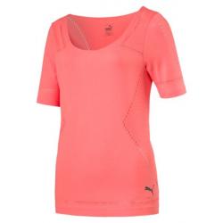Dámske tréningové tričko s krátkym rukáv PUMA-evoKNIT Tee W Nrgy Peach