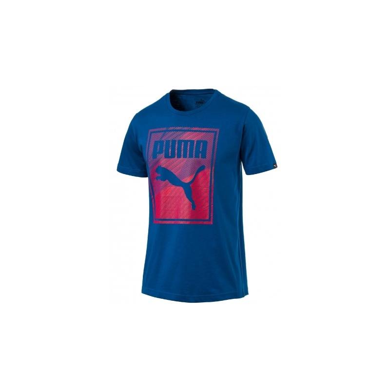 85dc79aec612 Pánske tréningové tričko s krátkym rukáv PUMA-Brand Box Logo Tee Lapis Blue  - Pánske