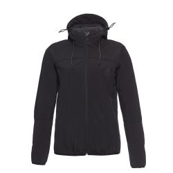 Dámska turistická softshellová bunda BERG OUTDOOR-YUKON-WOMEN-Black