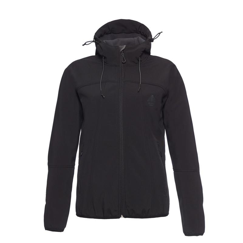 Dámska turistická softshellová bunda BERG OUTDOOR-YUKON-WOMEN-Black 79a679b67cb