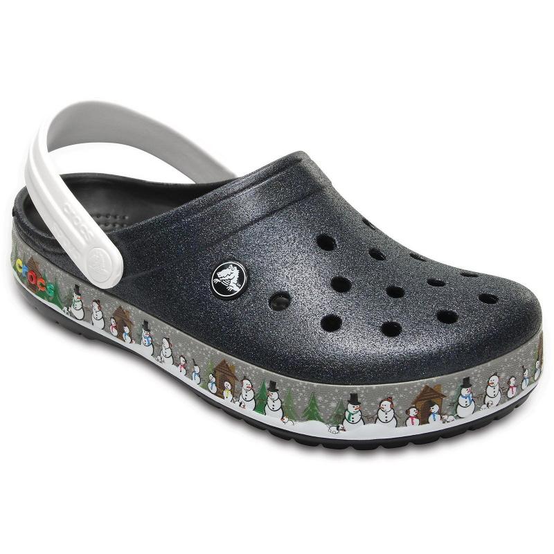 Dámska rekreačná obuv CROCS-Crocband Holiday Clog Blk - Dámske sandále  značky Crocs. 9e9673c99e