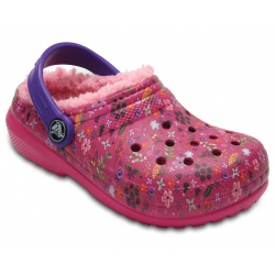 Detská rekreačná obuv CROCS-Classic Lined Graphic Clog candy pink/peony