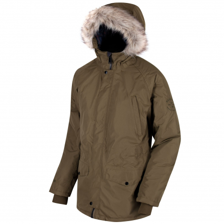 Pánska bunda REGATTA Salton green - Pánska bunda značky Regatta, ktorá je vyrobená z vode odolného a priedušného materiálu.