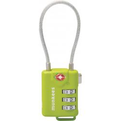 Prívesok na kľúče MUNKEES TSA Zámok číselný s káblom ES