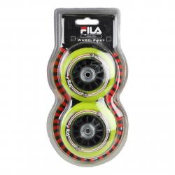 Kolieska, ložiská a vymedzovač inline FILA SKATES-76mm/82A +ABEC5 Bear+Nylon Spacer